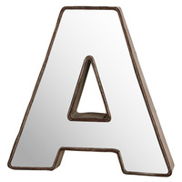 Make Market™ 3D Metal With Mirror Front Letter, 9""