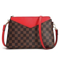 Checkered Shoulder Bag for Women Luxury Crossbody Bag Designer Purse