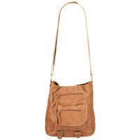 T-Shirt & Jeans Faux Leather Double Tab Crossbody Bag Cognac One Size For Women 20807140901