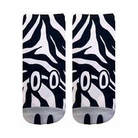 Zebra Ankle Socks