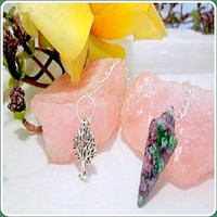 """Awareness"" Ruby Fuchsite Pendulum"
