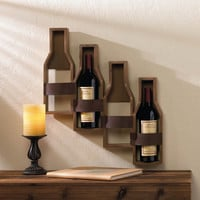 Rustic Winery Wall Mounted Wine Rack