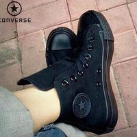 Converse Fashion Canvas Flats Sneakers Sport Shoes ALL BLACK