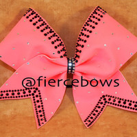 Lady Luck 2 Color Rhinestone Cheer Bow