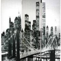 New York City Canvas Double-sided Room Divider