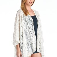 KIMINO FRONT OPEN LACE CARDIGAN