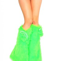 Solid Neon Green Fluffies