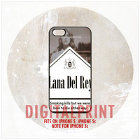 Lana Del Rey Cigarette iPhone 5, 5S, Note For 5C Case Cover