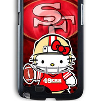 Samsung Galaxy Note 2 Case - Rubber (TPU) Cover with 49ers Hello Kitty Rubber Case Design