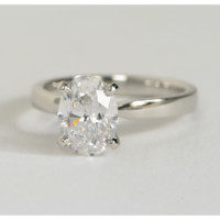 1.01ct  Oval Diamond Engagement Ring EGL certified 18kt gold Gold JEWELFORME BLUE