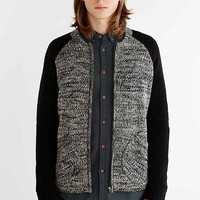 Native Youth Marled Bomber Sweater- Black