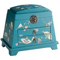 Pier 1 Imports - Product Details - Teal Fans Jewelry Box