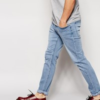 Cheap Monday Tight Jeans Skinny Fit in Stonewash Blue