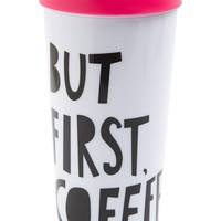 ban.do 'But First, Coffee' Thermal Travel Mug - White