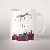 The Hobbit coffee mug, Lord of the rings watercolor 11 oz. Mug art, movie art, The hobbit poster, Fan Gift, Middle earth cup