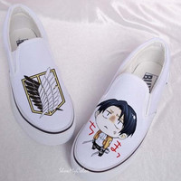 Attack on titan anime Custom Canvas, Attack on titan hand painted shoes, Survey Legion anime  Attack on titan best shoes.