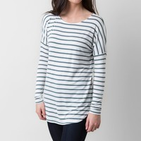 BKE red Striped Top