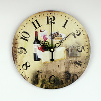 Kitchen Wall Decor Watch With Waterproof Clock Face Modern Dining Hall Silent Wall Clock Creative Design Home Decor Living Room