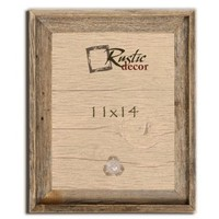 """11x14 - 2"""" Wide Signature Reclaimed Rustic Barnwood Wall Frame"""