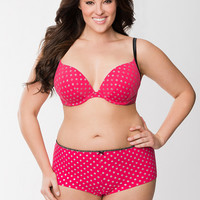 Cotton Boost Plunge Bra & Boyshort Panty Ensemble | Lane Bryant