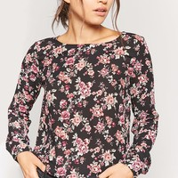 Floral Chiffon High-Low Top
