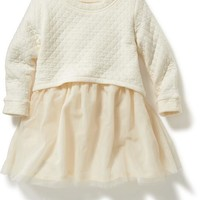 Old Navy Quilted Fleece 2 In 1 Tutu Dress For Baby
