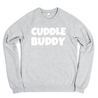 Cuddle Buddy-Unisex Heather Grey Sweatshirt