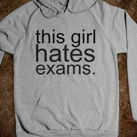 this girl hates exams