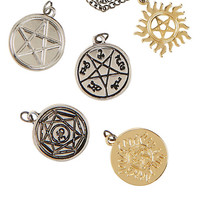 Supernatural Symbols Interchangeable Charm Necklace