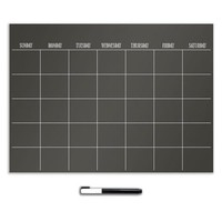Black Monthly Calendar Decal | Wall Organizers | Dorm Walls | Dorm Essentials | Our Campus Market