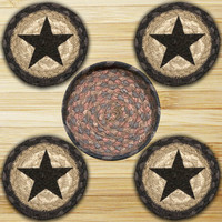Star Round Coasters in a Basket (Set of 5) 2