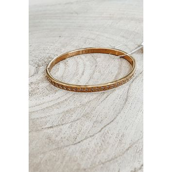 SAHIRA 18k Gold Diamond Cut Bracelet