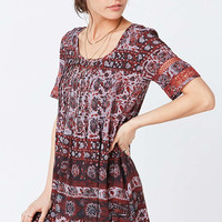 Ecote Amethyst Ivory Floral Dress - Urban Outfitters