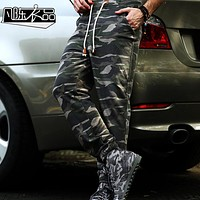 Men's sported Pants 2016 Brand Camouflage sweatpant Trousers military Sweat Pant male cargo wear camo elastic waist army Jogger