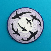 Shark Iron On Patch