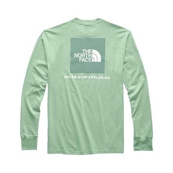 Men's Long Sleeve Red Box Tee by The North Face