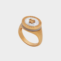 Versace Mother of Pearl Medusa Ring for Men | US Online Store