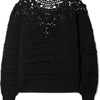 Isabel Marant - Camden lace and crocheted cotton sweater