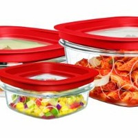 Rubbermaid FG7K54TRCHILI 6-Piece Value Pack Premier Food Storage Containers with 1 - 1.25 Cup, 1 - 3 Cup and 1 - 5 Cup Container