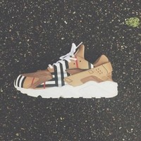 Fashion Online Nikeair Custom Burberry Huaraches Running Sport Casual Shoes Sneakers