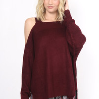 Gab & Kate Out To Play Sweater - Wine