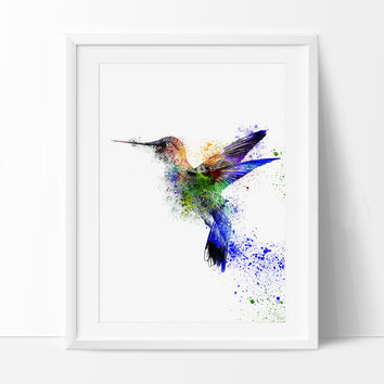Birds Art Print , Book Page Art, WATERCOLOR Print, Wall Decor Colorful Birds Painting, Animal Illustration (47)