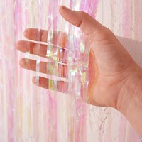 Iridescent Fringe Door Curtain Party Banner | Urban Outfitters
