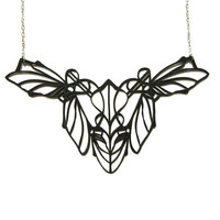 Insect Necklace - Material is Rubber - Abstraction inspired by Insects