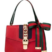 Gucci Women's Red Leather Inclined Shoulder Bag