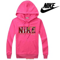 Nike Women Men Casual Long Sleeve Top Sweater Hoodie Pullover Sweatshirt-2