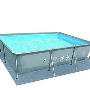 By PoolCentral 14' Rectangular Gray Swimming Pool Ground Cloth