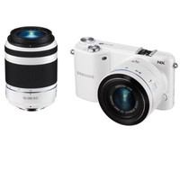 "Samsung NX2000 20.3MP CMOS Smart WiFi Mirrorless Digital Camera with 20-50mm Lens and 3.7"" Touch Screen LCD (White) (Discontinued by Manufacturer)"
