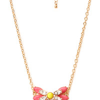 Vintage-Inspired Faux Stone Necklace