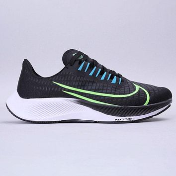 NIKE AIR ZOOM PEGASUS 37 New fashion hook print men sports leisure shoes Black